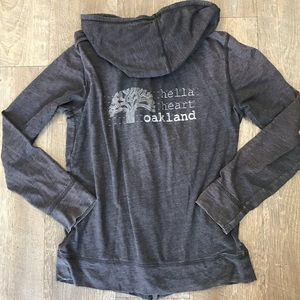 "❇️""Hella Heart Oakland"" CA Hoodie Sweatshirt Small"